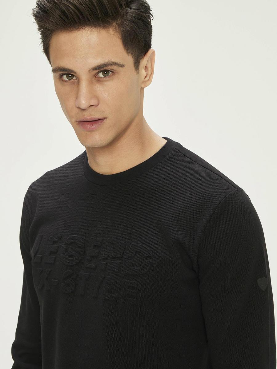 Xint Gofre Baskılı Sweatshirt
