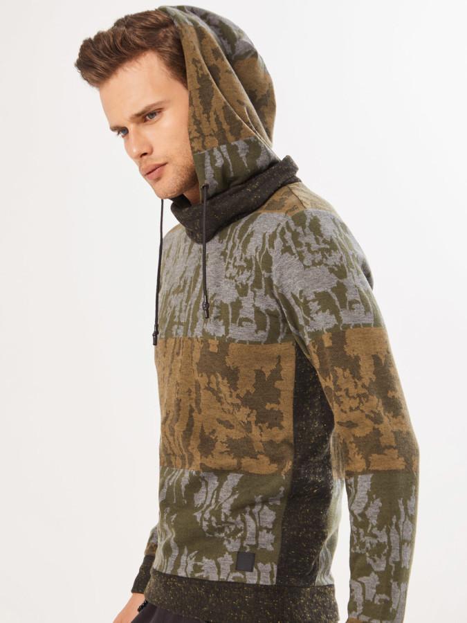 XINT - Xint Şal Yaka Kapüşonlu Sweatshirt (1)