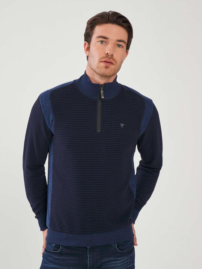 Yarım Balıkçı Yaka Fermuarlı Pamuklu Sweatshirt