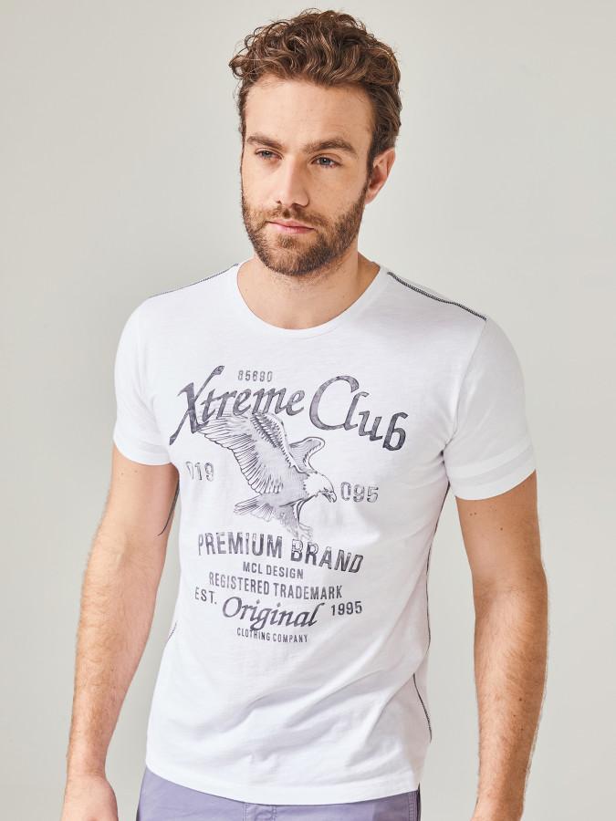 MCL - MCL Bisiklet Yaka Baskılı Tişört (1)