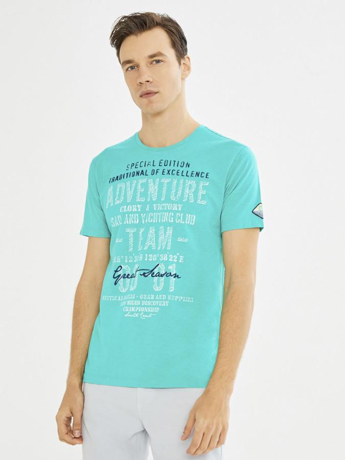 MCL Bisiklet Yaka Baskılı Tişört