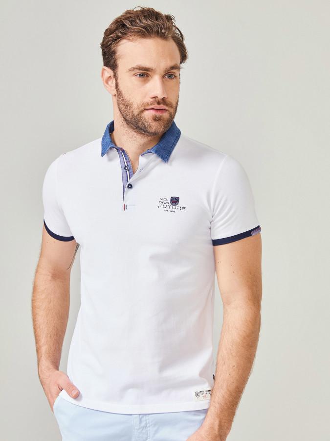 MCL - MCL Denim Polo Yaka Tişört