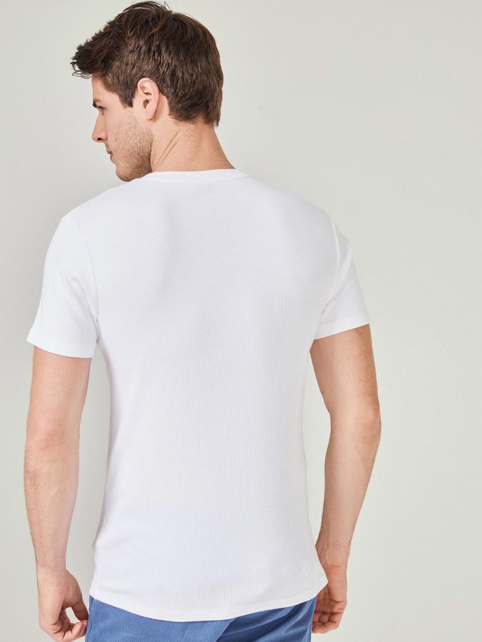MCL Patlı Yaka Basic Tişört - Thumbnail