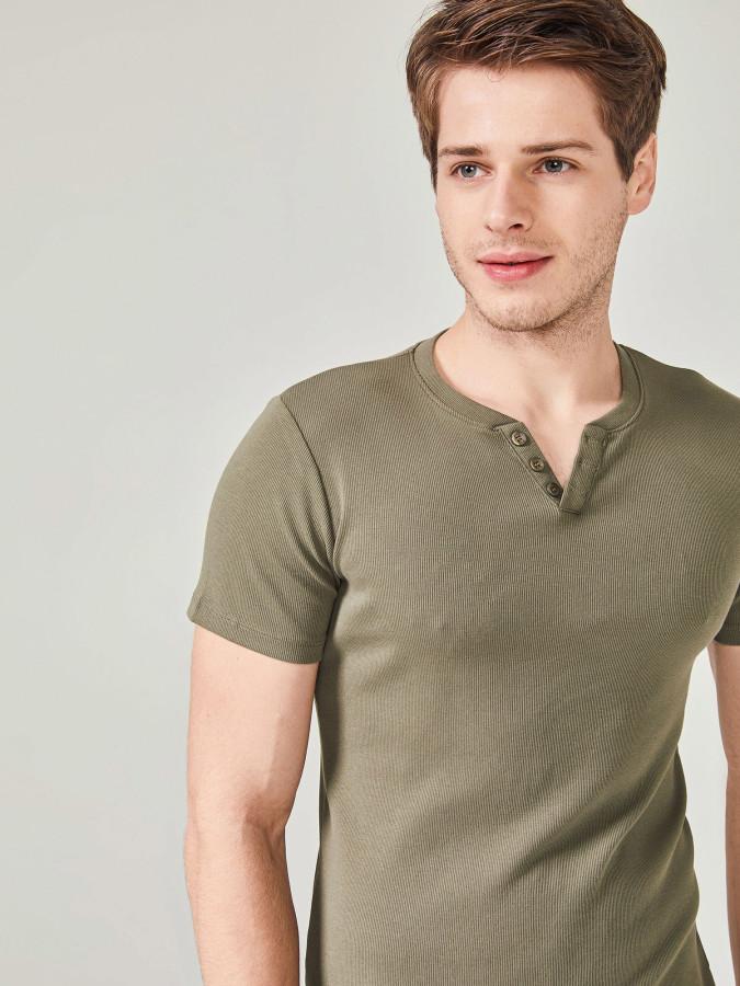MCL - MCL Patlı Yaka Basic Tişört (1)
