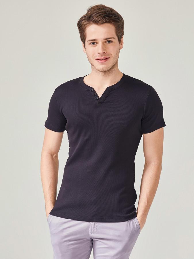 MCL - MCL Patlı Yaka Basic Tişört
