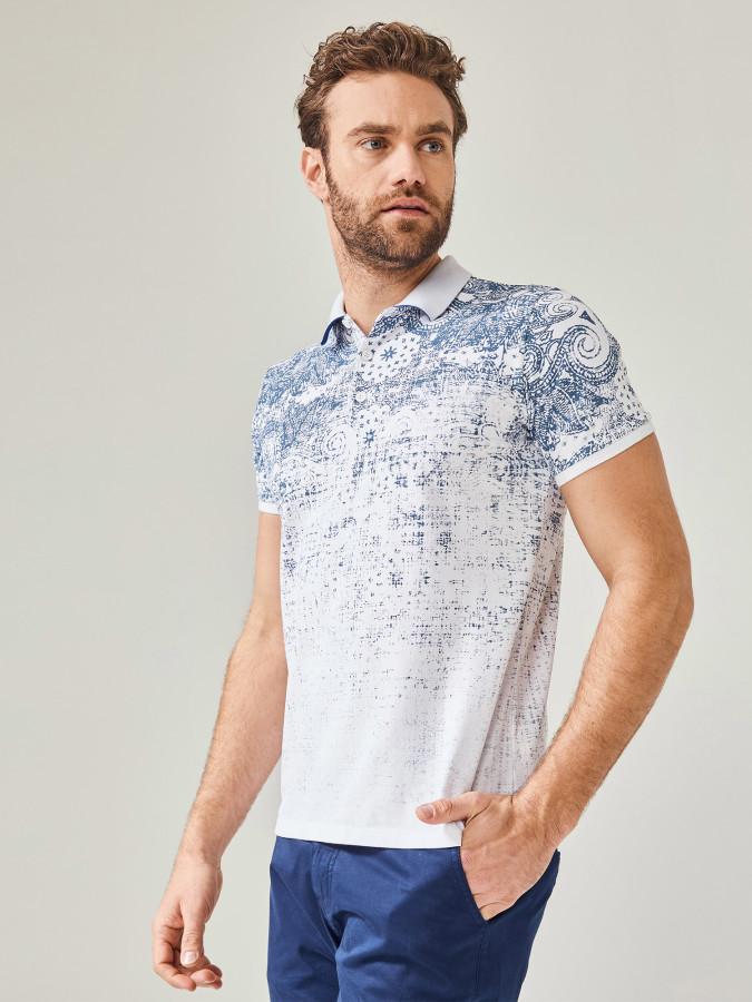 MCL - MCL Polo Yaka Baskılı Tişört