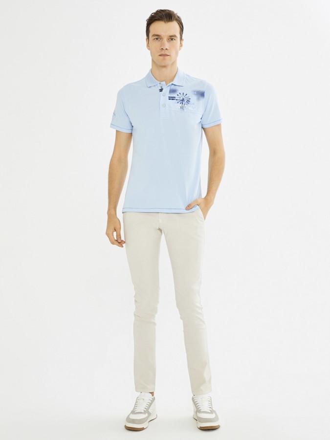 MCL - MCL Polo Yaka Baskılı Tişört (1)