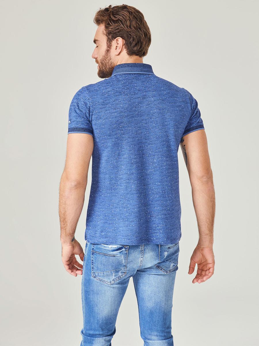 Polo Yaka Desenli Pamuklu Slim Fit Tişört