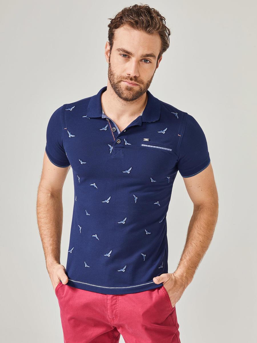 MCL Polo Yaka Desenli Tişört