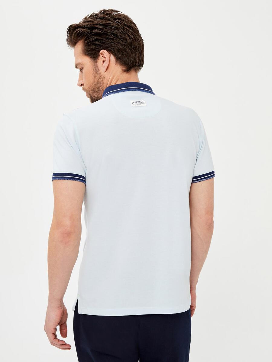 Polo Yaka Pamuklu Slim Fit Baskılı Büyük Beden Tişört