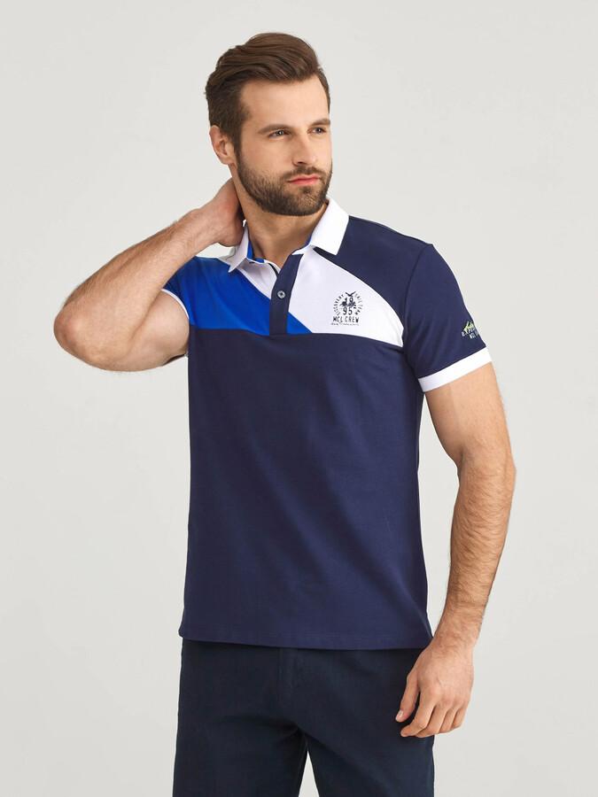 Polo Yaka Pamuklu Slim Fit Baskılı Tişört