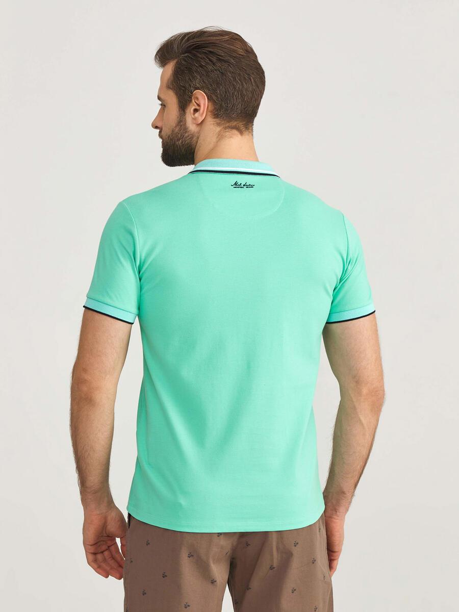Polo Yaka Pamuklu Slim Fit Büyük Beden Tişört