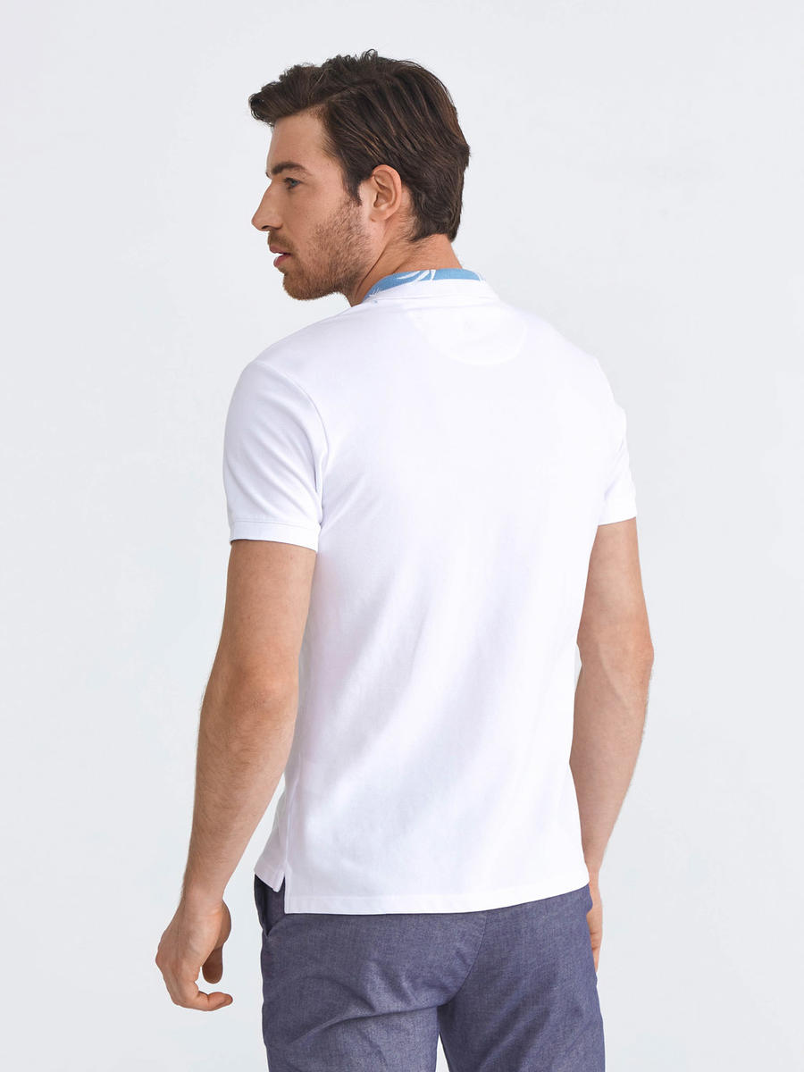 Polo Yaka Pamuklu Slim Fit Nakış Detaylı Tişört