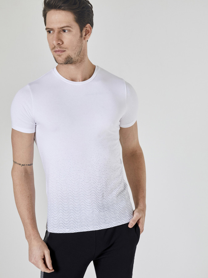 XINT - Xint Bisiklet Yaka Baskılı Tişört
