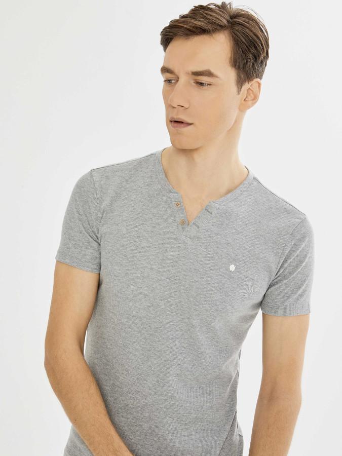 XINT - Xint Patlı Yaka Kaşkorse Basic Tişört
