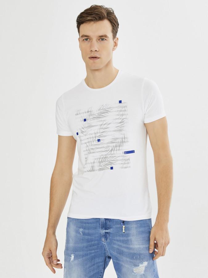 Xint Bisiklet Yaka Desenli Tişört