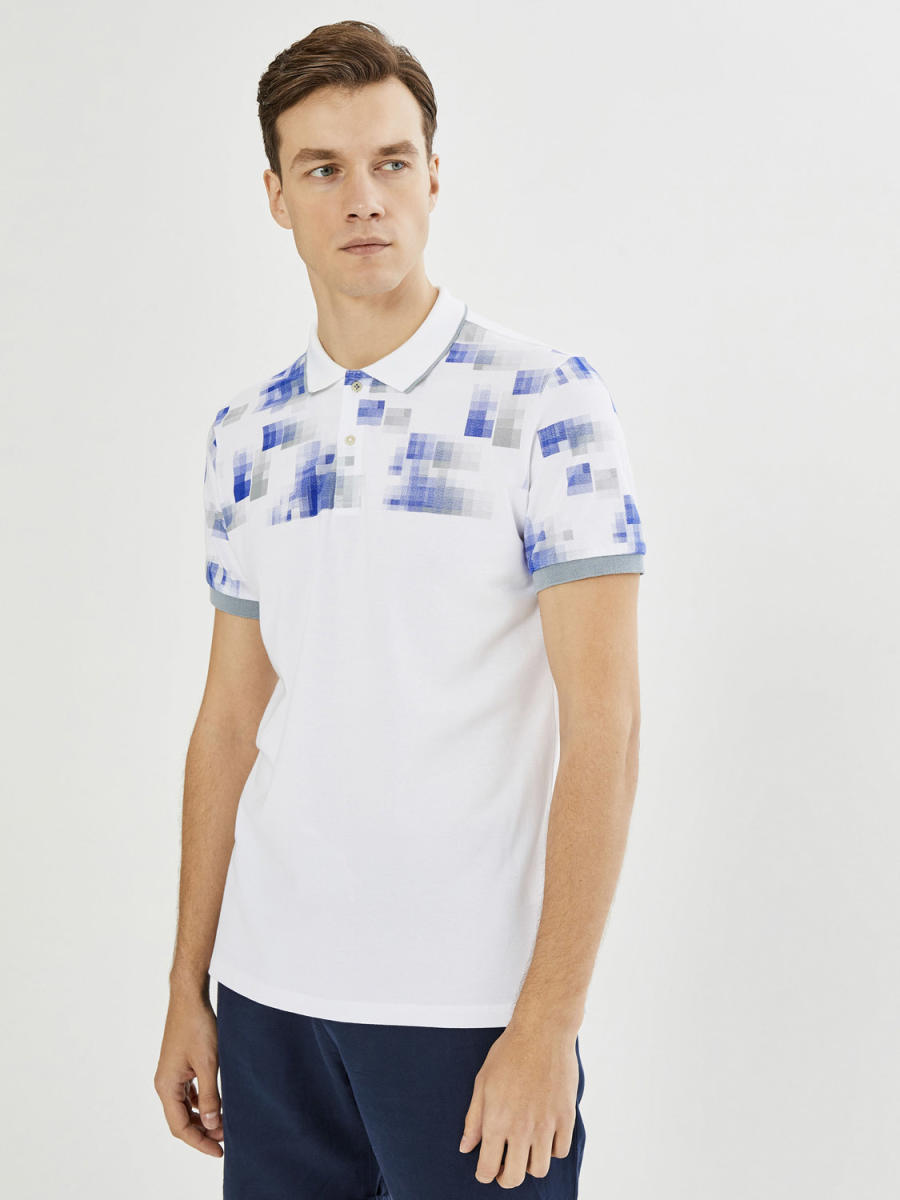 Xint Polo Yaka Baskı Detaylı Tişört