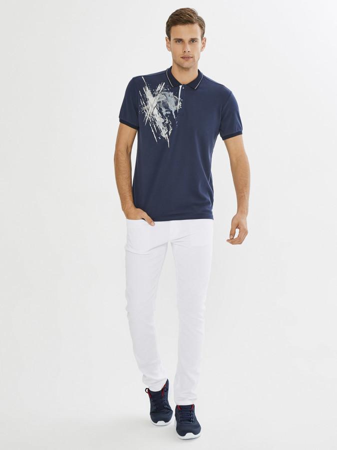 XINT - Xint Polo Yaka Baskı Detaylı Tişört (1)