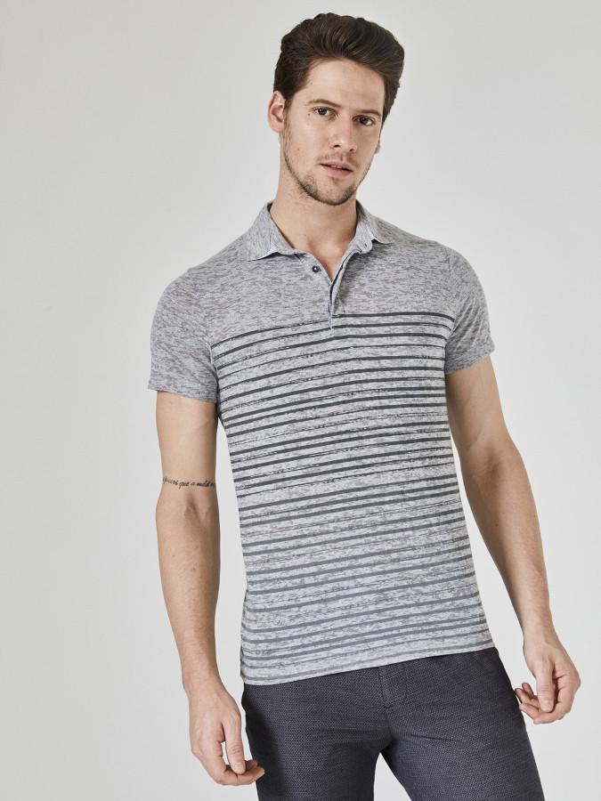 XINT - Xint Polo Yaka Baskılı Tişört