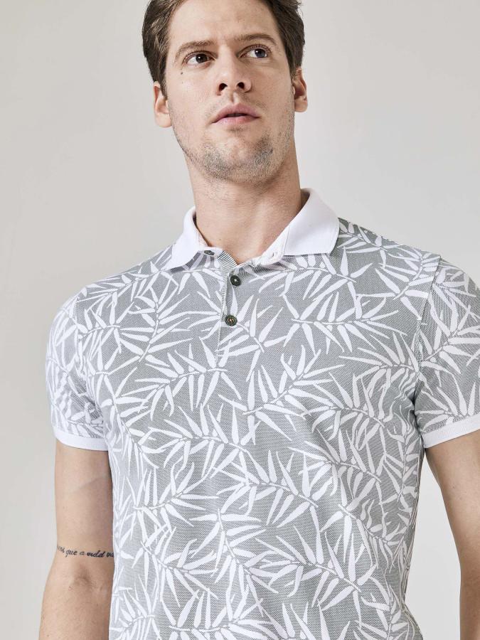 Xint Polo Yaka Baskılı Tişört - Thumbnail