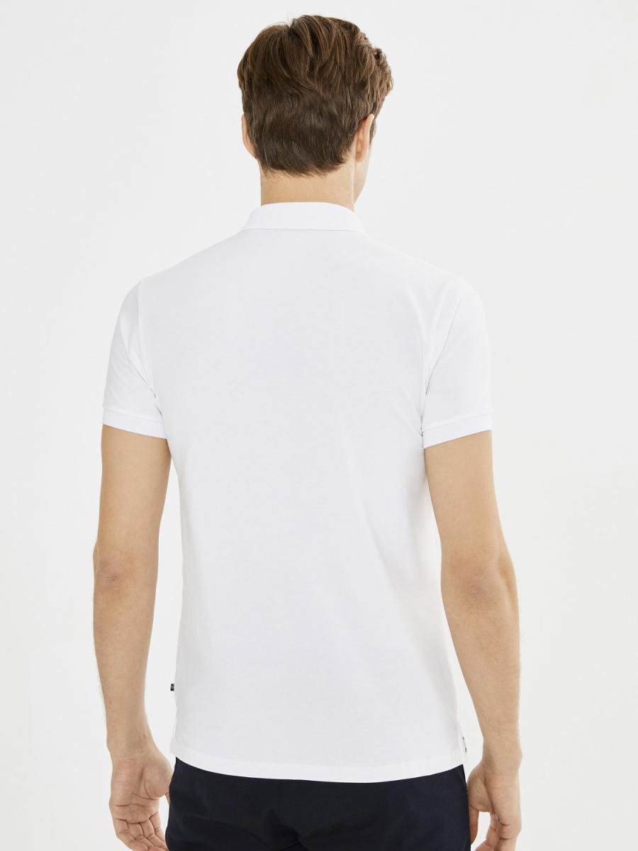 Xint Polo Yaka Baskılı Tişört