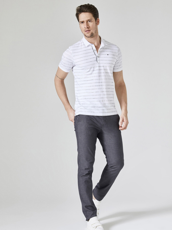XINT - Xint Polo Yaka Çizgili Tişört (1)