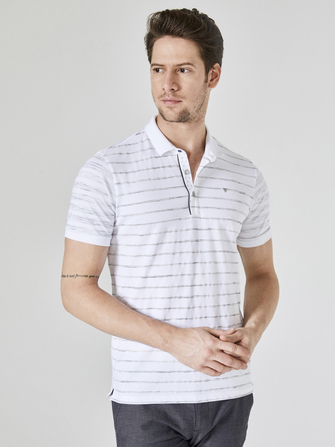 XINT - Xint Polo Yaka Çizgili Tişört