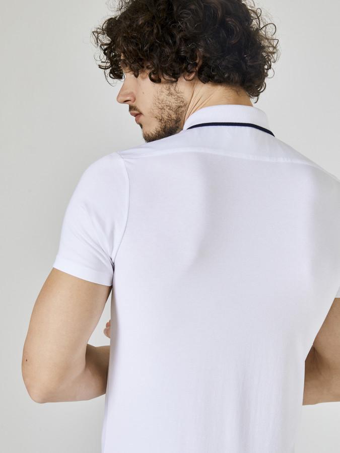 Xint Polo Yaka Fermuar Detaylı Tişört - Thumbnail