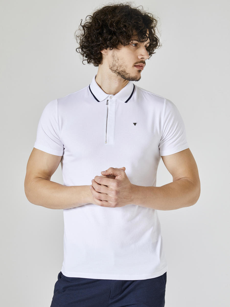Xint Polo Yaka Fermuar Detaylı Tişört
