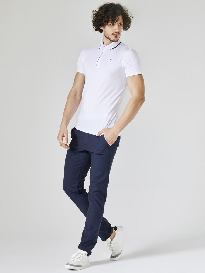 XINT - Xint Polo Yaka Fermuar Detaylı Tişört (1)