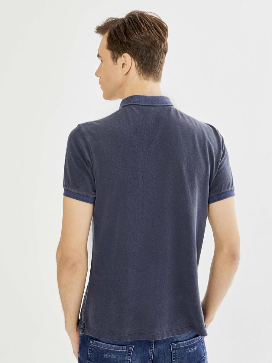 Xint Polo Yaka Parça Boyalı Tişört