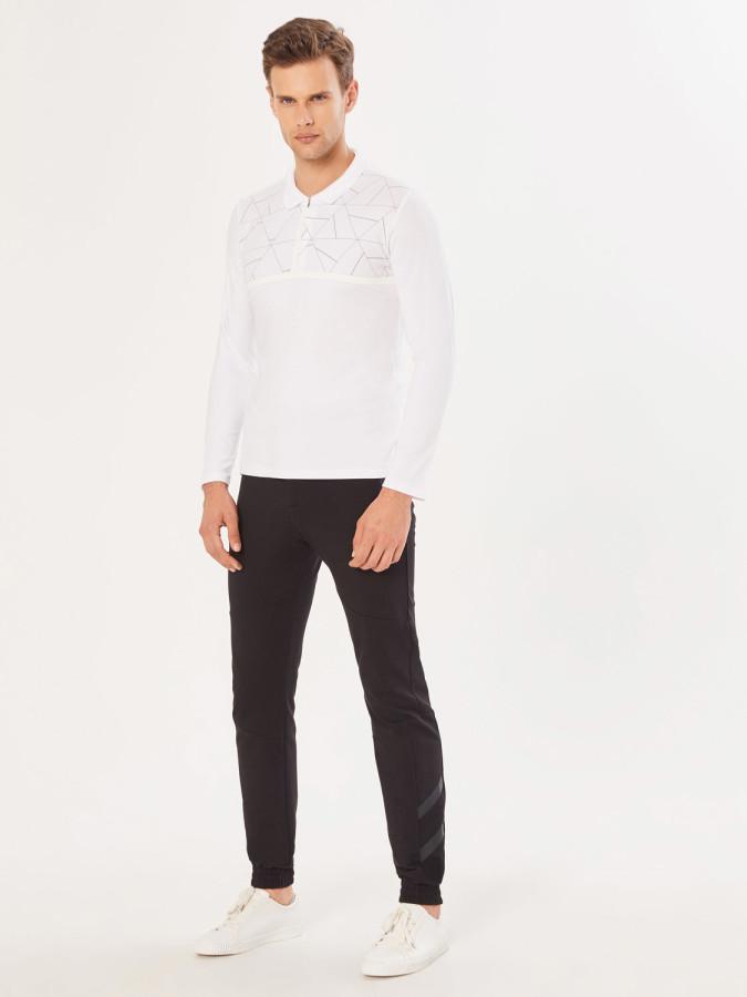 XINT - Xint Polo Yaka Şerit Detaylı Tişört