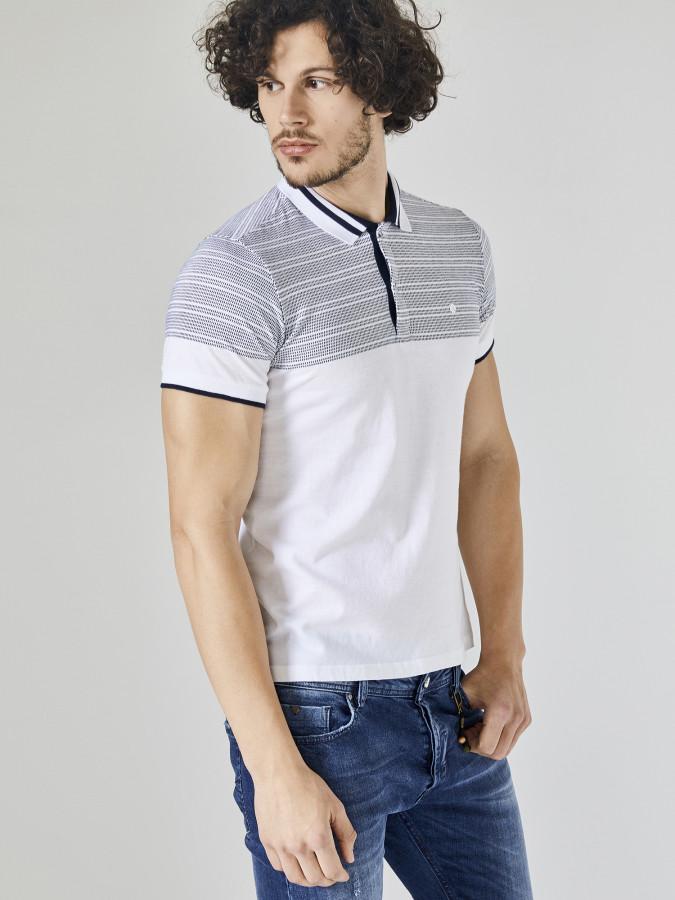 XINT - Xint Polo Yaka Trikosu Çizgili Tişört