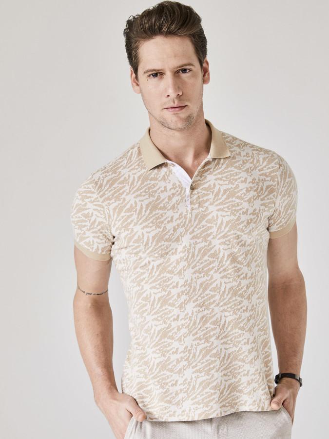 XINT - Xint Polo Yaka Desenli Tişört