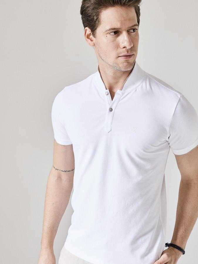 XINT - Xint Şal Yaka Pat Detaylı Tişört