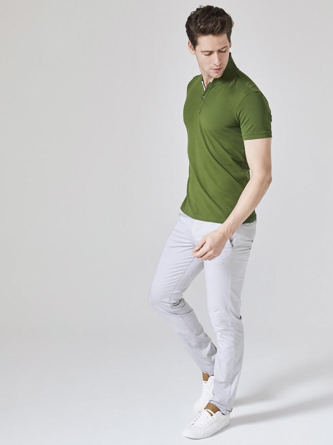 XINT - Xint Şal Yaka Pat Detaylı Tişört (1)