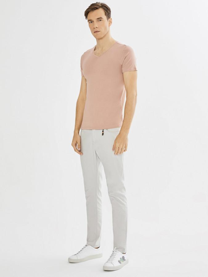 XINT - Xint V Yaka Modal Basic Tişört (1)