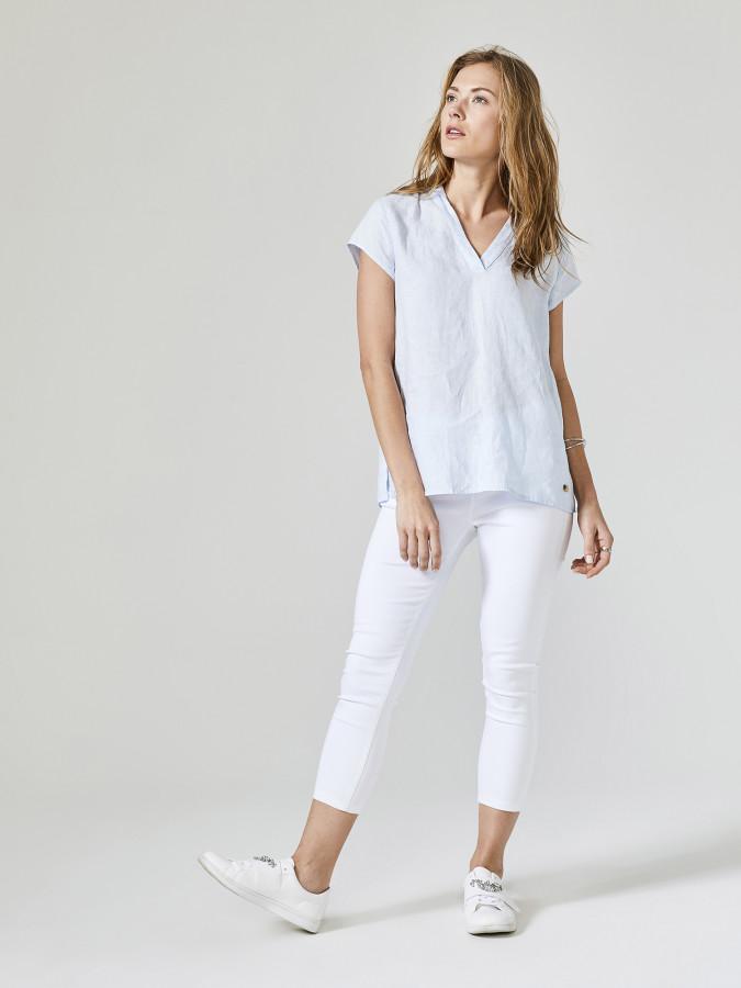 XINT - Xint V Yaka %100 Keten Bluz (1)