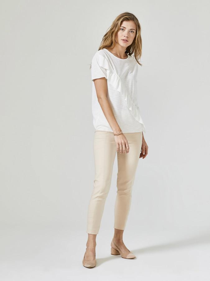 XINT - Xint Yuvarlak Yaka Fırfır Detaylı Bluz (1)