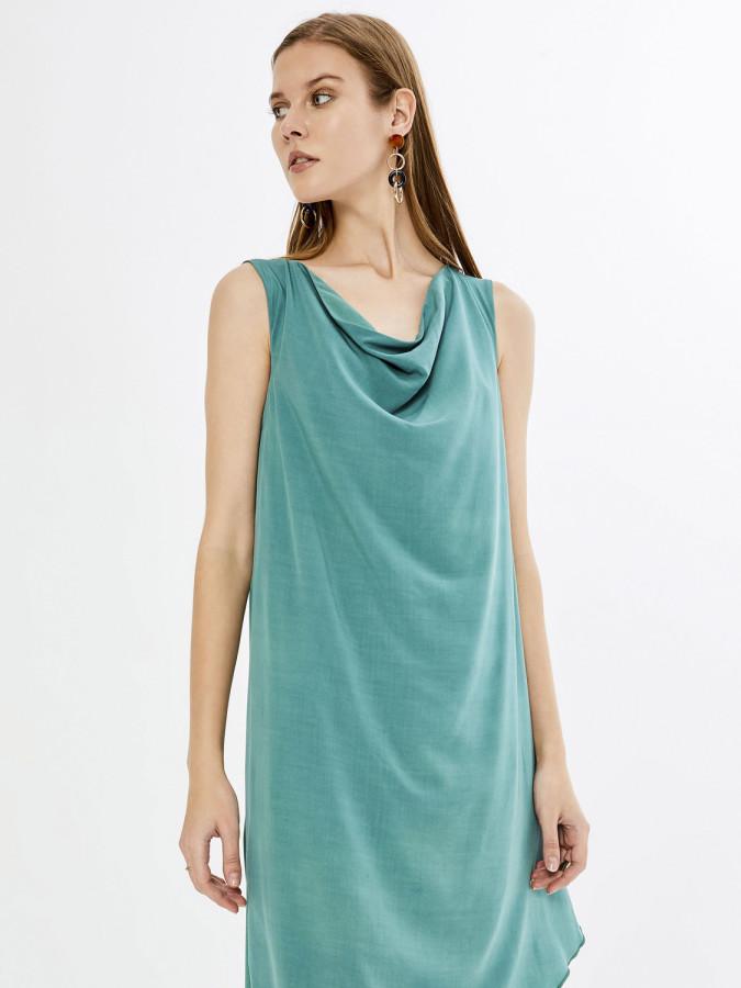 XINT - Xint Degaje Yaka Asimetrik Kesimli Elbise (1)