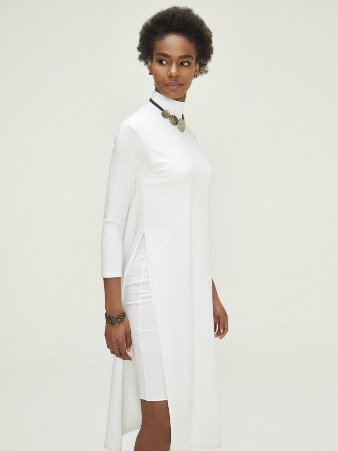 XINT - Xint Dik Yaka Çift Etekli Elbise (1)