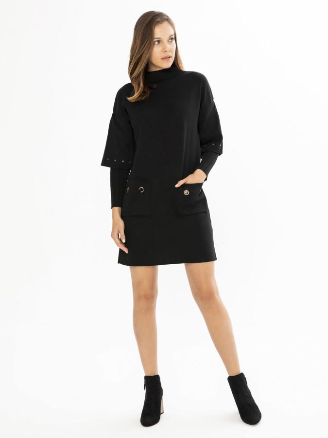 XINT - Xint Dik Yaka Çift Kollu Elbise