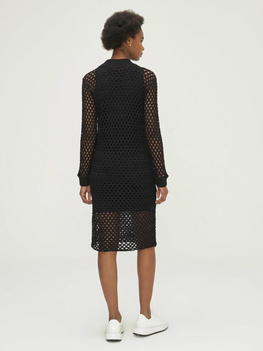 Xint Dik Yaka Fileli Elbise