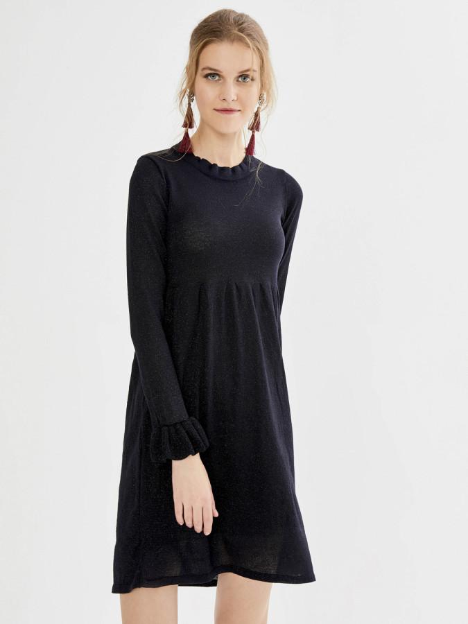 XINT - Xint Dik Yaka Fransız Kol Mini Elbise (1)