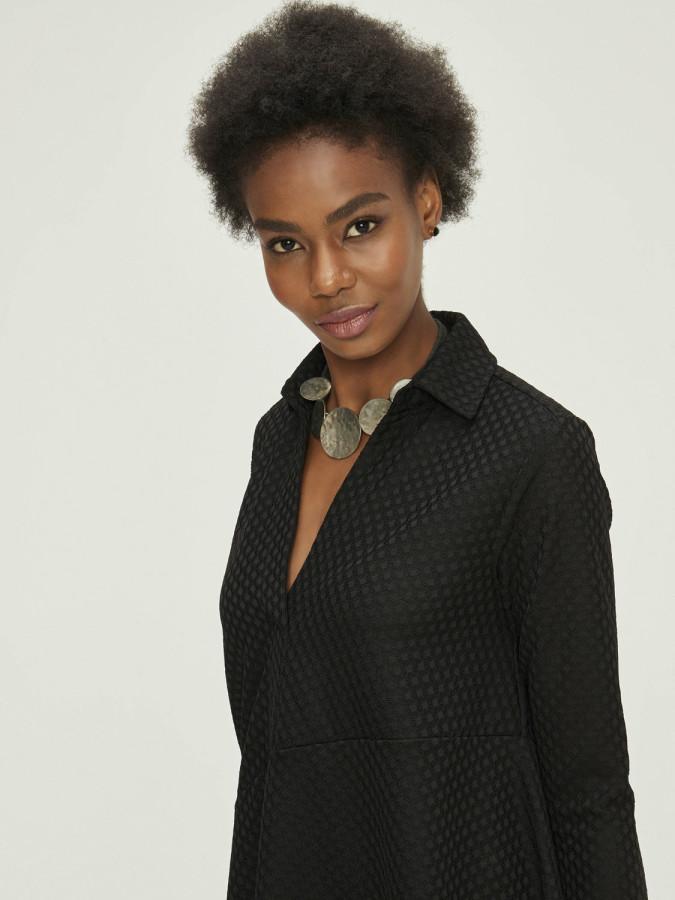 XINT - Xint Eteği Asimetrik Kesimli Dantelli Elbise (1)