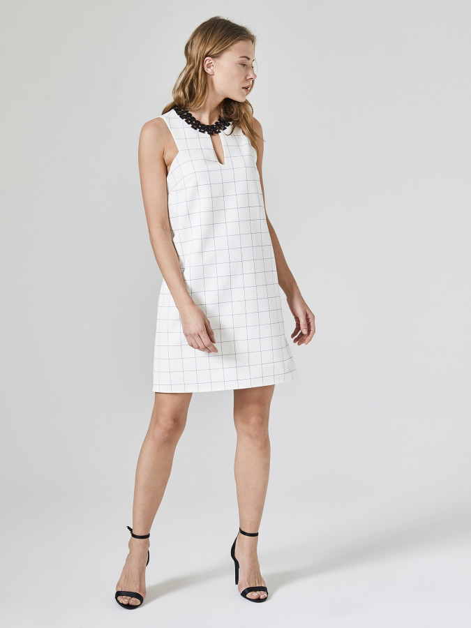 XINT - Xint Kare Desenli Elbise