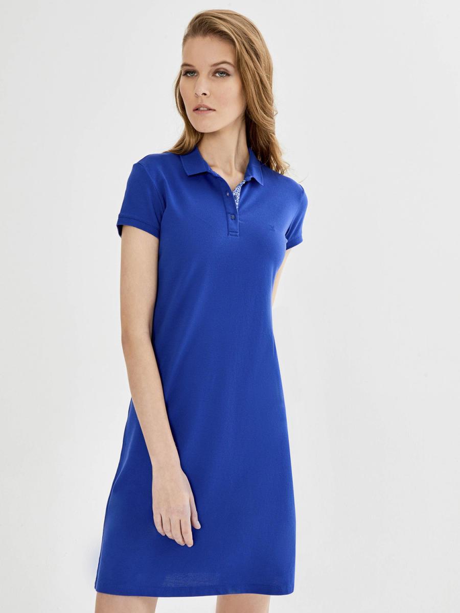 Xint Polo Yaka Basic Elbise