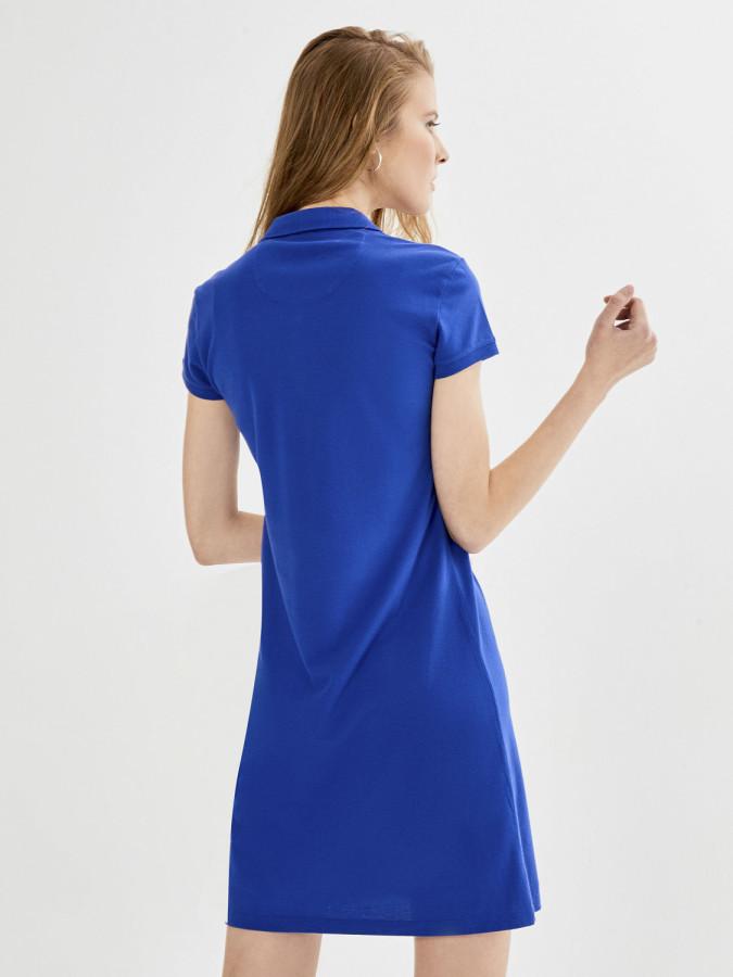 Xint Polo Yaka Basic Elbise - Thumbnail