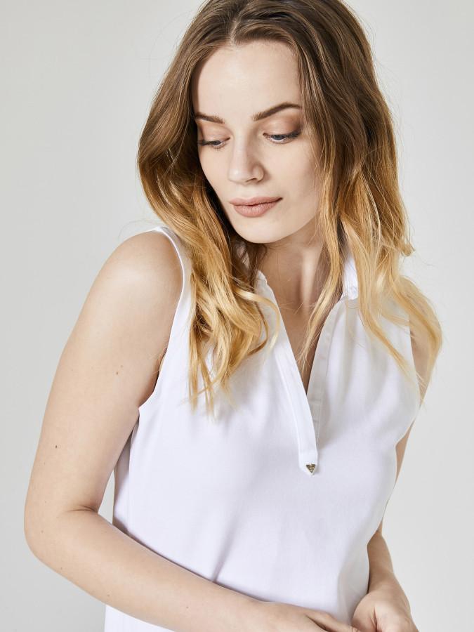 XINT - Xint Polo Yaka Sıfır Kollu Diz Üstü Elbise (1)