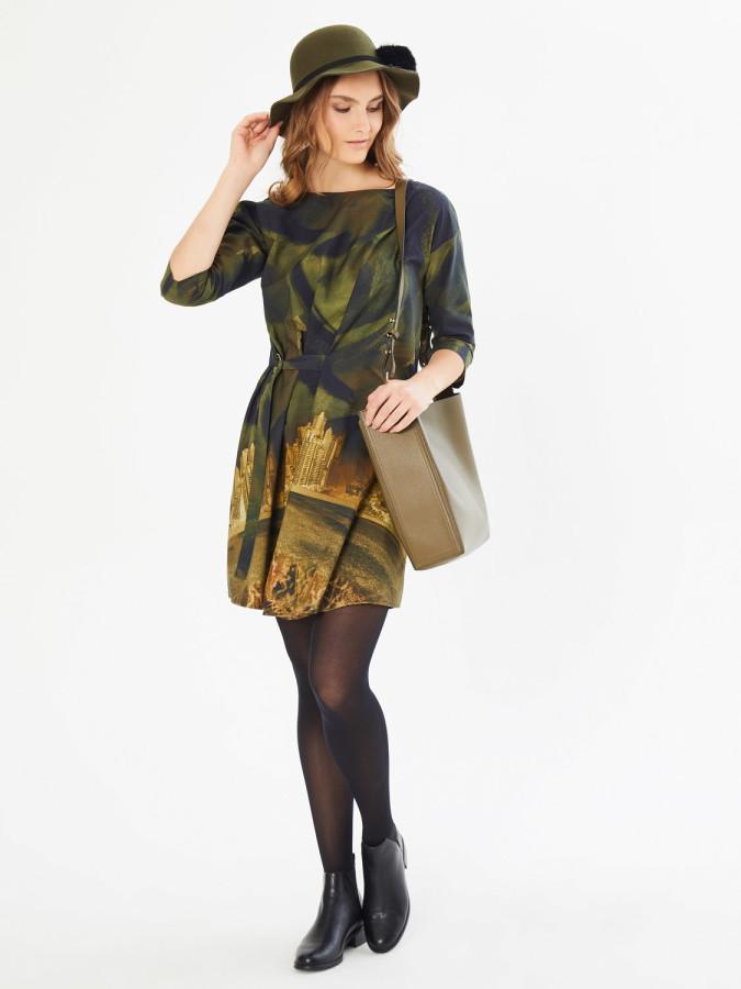XINT - Xint Truvakar Kol Belden Desenli Elbise